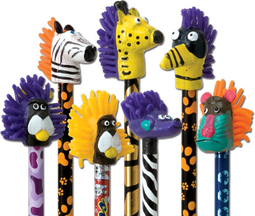Squishy Animal Pencil Toppers : Squishy Cartoon Animal Pencil Topper Gpencil.com