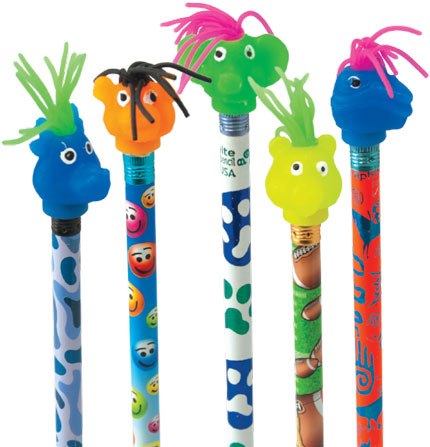Squishy Animals Pencil Toppers : Spiky Hair Animal Head Topper Gpencil.com