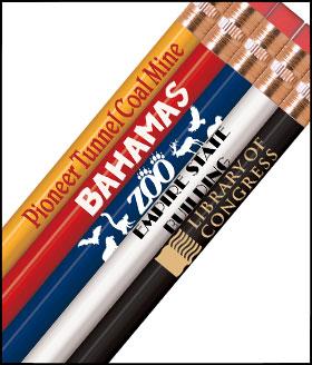 Economy Round Personalized Pencils 1 Color Imprint