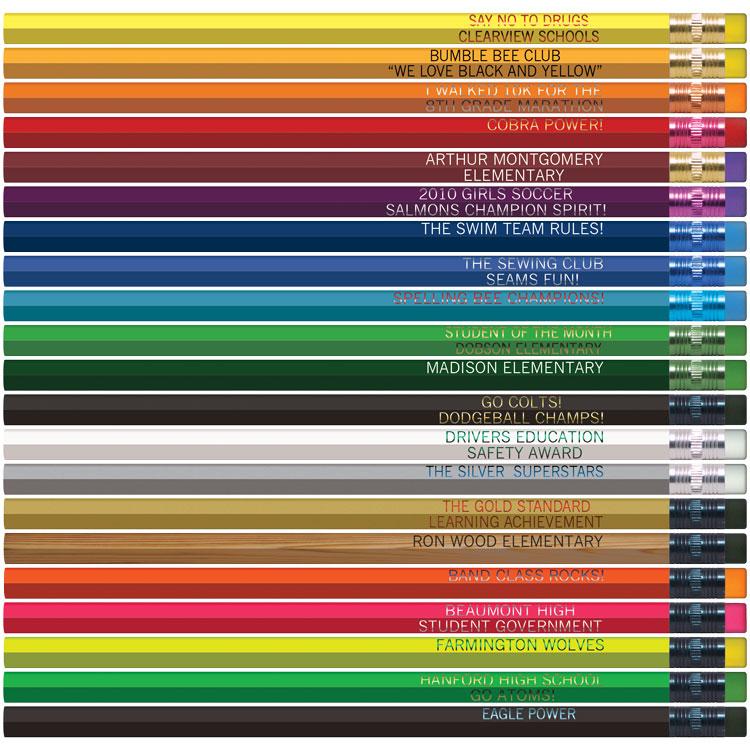 Custom Hexagon Pencils