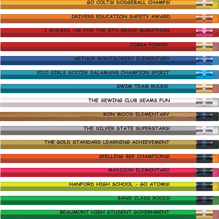 Personalized Hexagon Pencils - Low Minimum | Gpencil.com