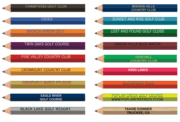 Personalized Golf Pencils - Hexagon
