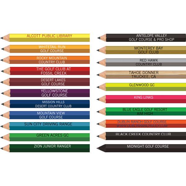 Personalized Golf Pencils - Hexagon