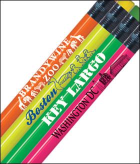 neon round personalized pencils 1 color imprint gpencil com
